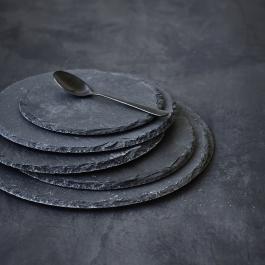 Okrągła deska do serwowania z łupka 15cm