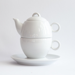 Set of teapot and cup 280 ml *Your text*