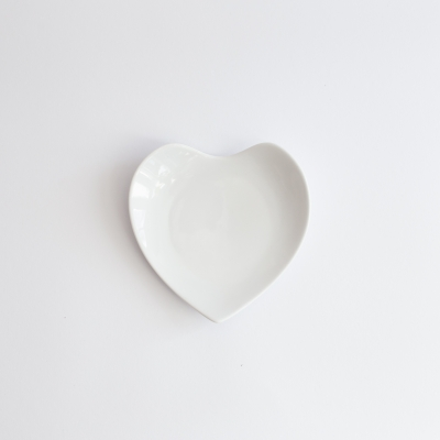 komplet kubek 300ml i spodek serce