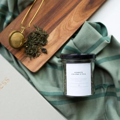 Herbata zielona z FIGĄ słoik 80g