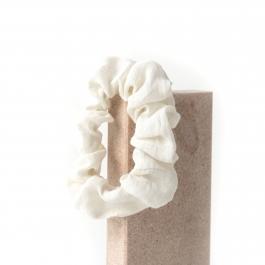 Gumka do włosów Scrunchie WHITE
